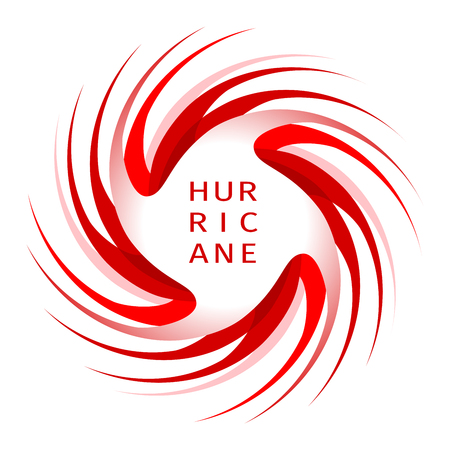Hurricane indication. Graphic banner of hurricane warning. Icon, sign, symbol, indication of the hurricane, vortex, tornado