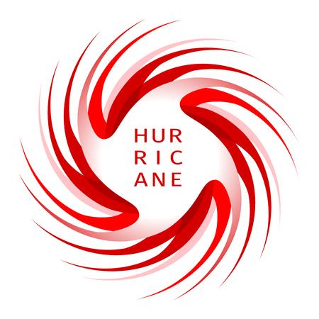 Indication d'ouragan. Bannière graphique d'avertissement d'ouragan. Icône, signe, symbole, indication de l'ouragan, vortex, tornade