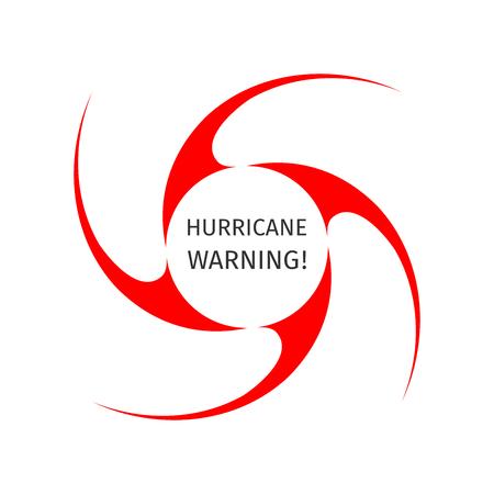 Hurricane indication. Graphic symbol of hurricane warning. Icon, sign, banner, indication of the hurricane, vortex, tornado