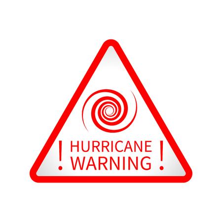 Warning hurricane road sign