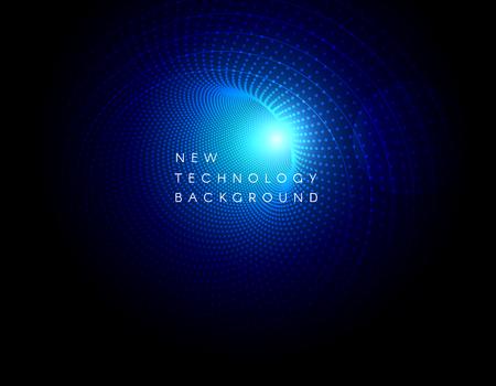 Vector abstract futuristic background design. High cyber technology dark blue color backdrop. Hi-tech digital concept