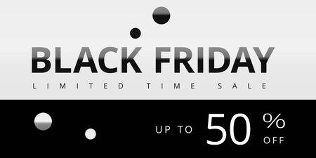 Black friday limited time sale creative coupon, tag, banner with percentage discount. Template design for marketing advertising campaigns, design presentations, advertising, websites, landing pages Çizim
