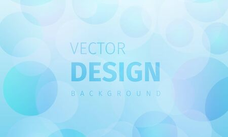 Abstract background with dynamic circles. Pastel blue bubbles. Vector illustration of light spheres . Modern trendy banner or poster design