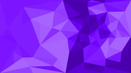 Vivid violet triangular background. Geometric low poly vector illustration. Horizontal position. Futuristic, tech, fashion, luxury universal application. Vector polygonal design for your business