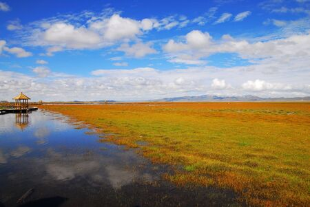 sichuan province: China, Sichuan Province, flower lake