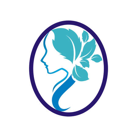 Beautiful woman with a flowers Ilustração