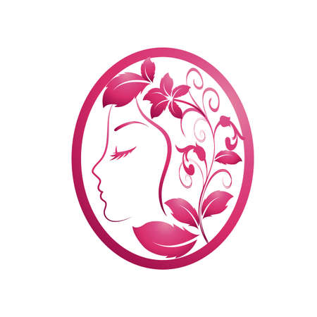 Beautiful woman with a flowers Illustration