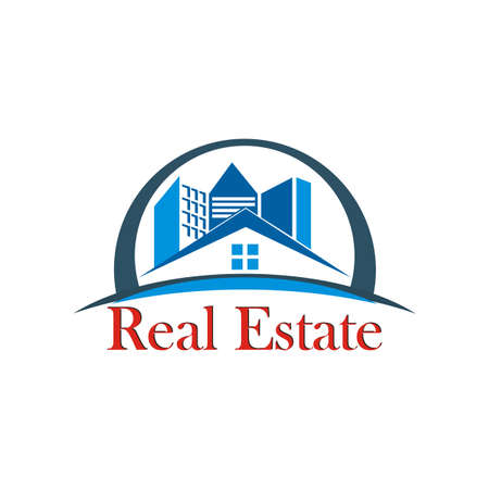 high rise buildings: Abstract building. Logo for real estate