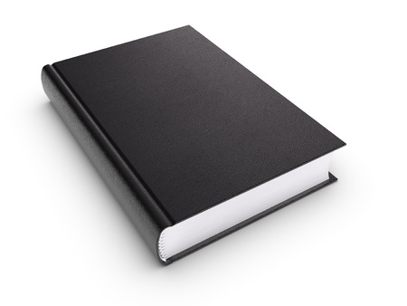 cover book: Black blank book (isolated) Stock Photo