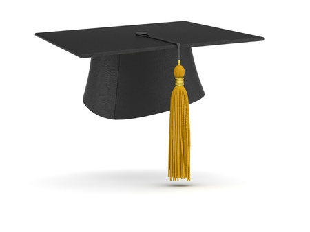 cap and gown: Graduation Cap (isolated)