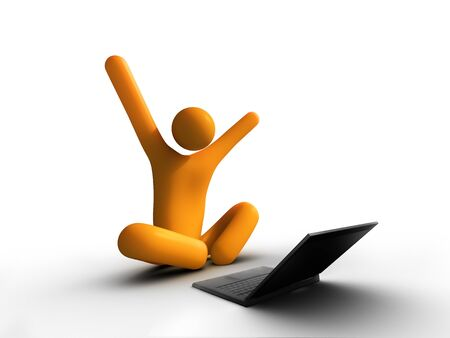 laptop success Stock Photo - 9522875
