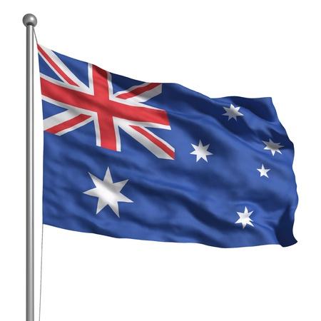 Bandera de Australia (aislado) Foto de archivo - 9522887