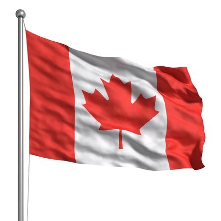 national identity: Bandiera del Canada (isolato)