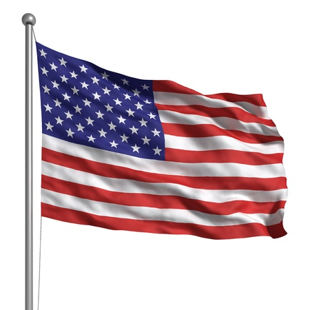 national flag: Flag of the United States (Isolated)
