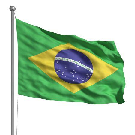 national identity: Bandiera del Brasile (isolato) Archivio Fotografico