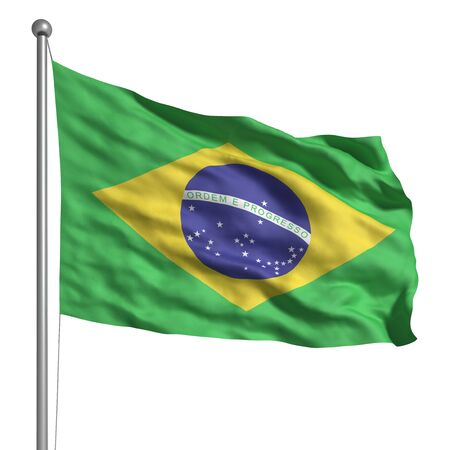 brazil symbol: Flag of Brazil (Isolated) Stock Photo