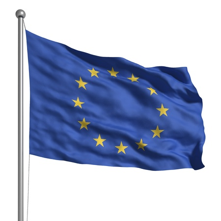 european community: Flag of Europe (Isolated) Stock Photo