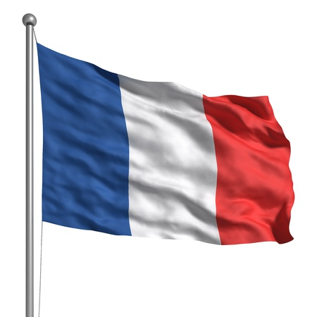 flag of france: Flag of France (Isolated) Stock Photo