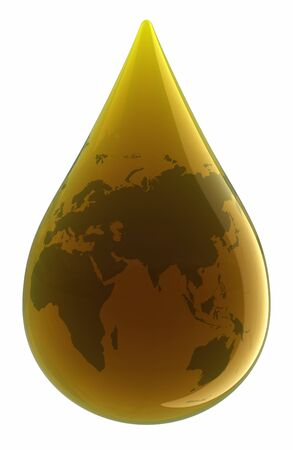 Drop of Oil. Stock Photo - 9548347