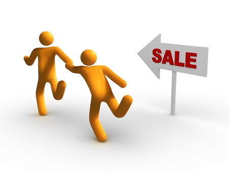 retail place: Big Sale. Stock Photo