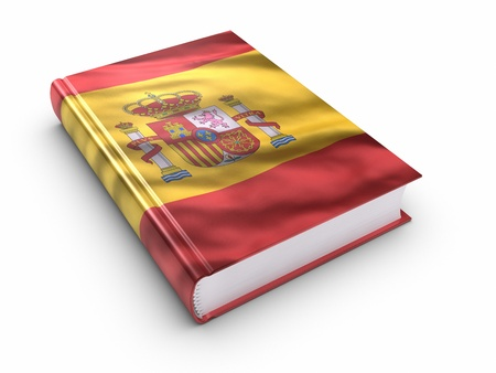 guide book: Book covered with Spanish flag.  Stock Photo