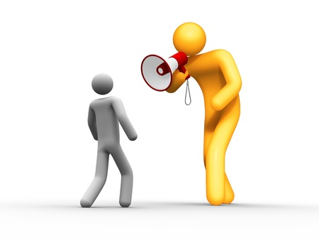 Megaphone. Stock Photo