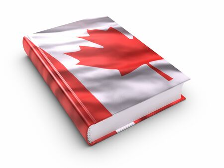 Book covered with Canadian flag.