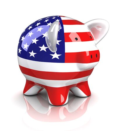 Piggy Bank - USA (Isolated) photo
