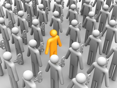 govern: Being Different. Stock Photo