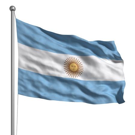 argentina: Flag of Argentina (Isolated)