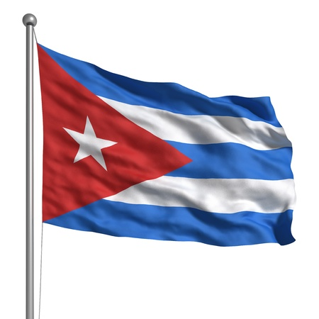 Flag of Cuba (Isolated) photo