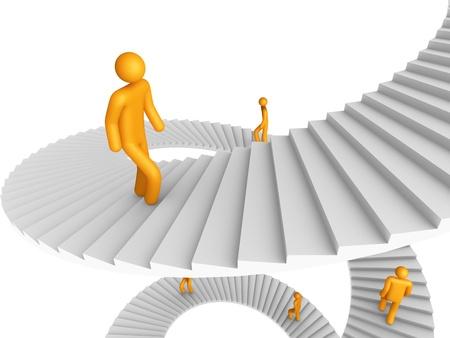 Leiter der Erfolg (isoliert)