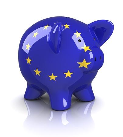 Piggy Bank -European Union (Isolated) photo