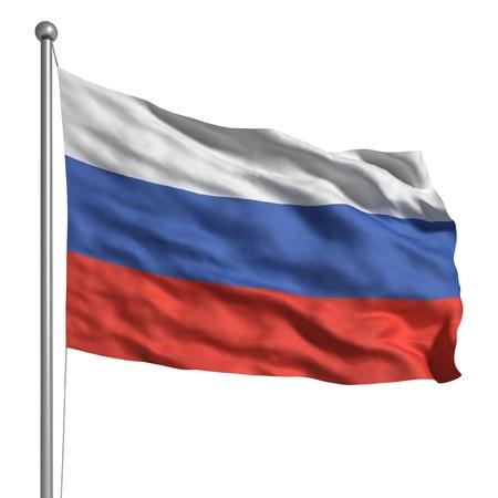 bandera de rusia: Bandera de Rusia (aislado)