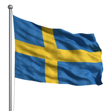 Flag of Sweden (Isolated) Stock Photo - 9596706