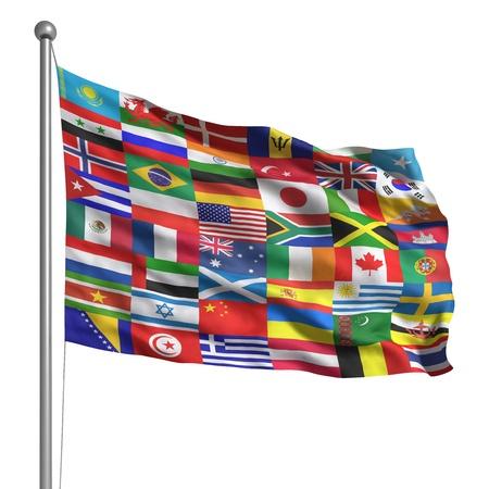 scottish flag: Raccolta delle bandiere Archivio Fotografico