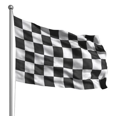 bandera carrera: Bandera a cuadros (aislado) Foto de archivo