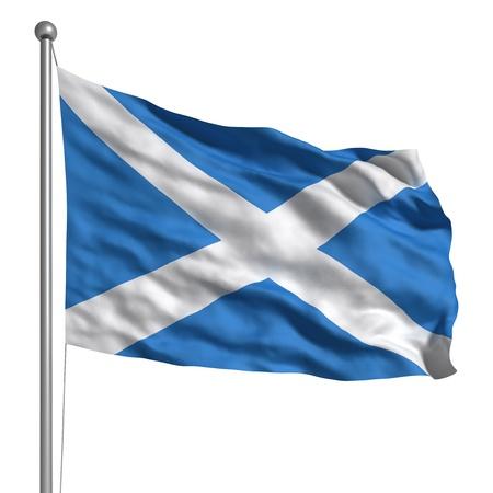 scottish flag: Bandiera della Scozia Archivio Fotografico