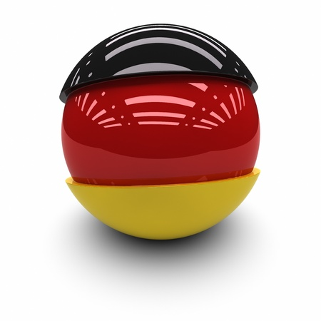 germany flag: 3D  -Flag of Germany Stock Photo