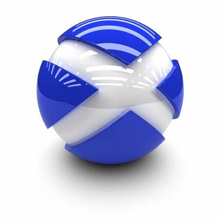scotland: 3D  - Flag of Scotland Stock Photo