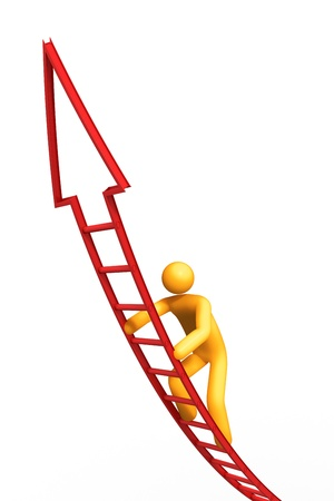 3d cg: Ladder of Success.