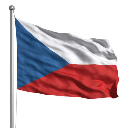 czech culture: Flag of the Czech Republic (Isolated)