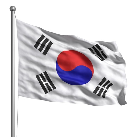 Flag of South Korea (Isolated) Stock Photo - 9596748