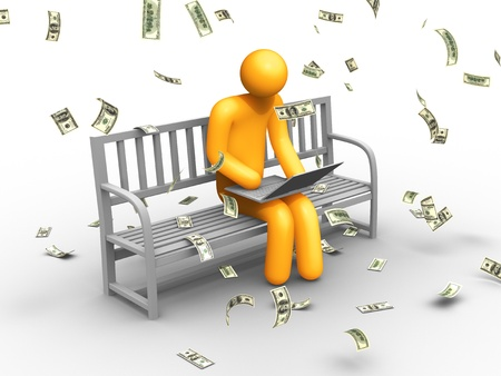 cartoon money: E-commerce Stock Photo