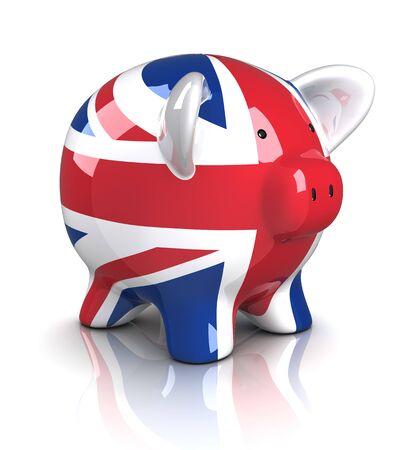 Piggy Bank - UK (Isolated) Stock Photo