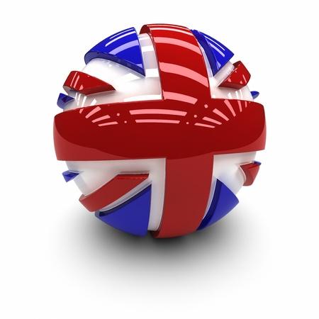 flag: 3D - Vlag van het Verenigd Koninkrijk. Stockfoto