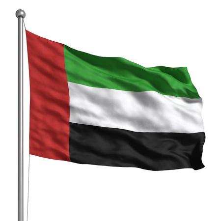 Verenigde Arabische Emiraten: Vlag van de Verenigde Arabische Emiraten (geïsoleerde)