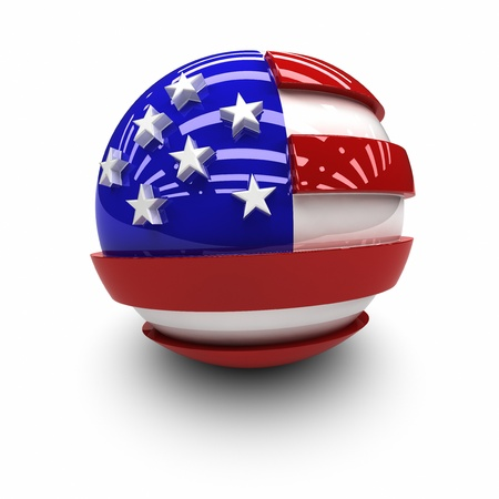 3d cg: 3D  - Flag of the United States.