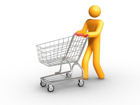 supermarket shopper: Shopping.