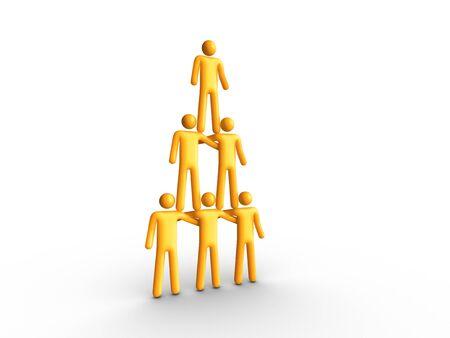 Human Pyramid Stockfoto